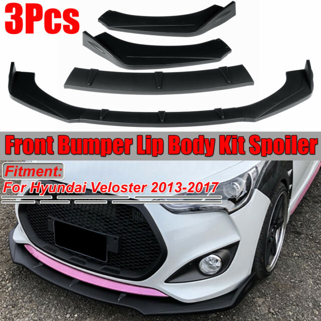 For Hyundai Veloster 2013-2017 Matte Black Front Bumper Lip Body Kit