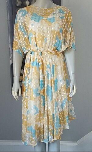 Vintage The Silk Farm Icinoo Metallic 70's Dress 1
