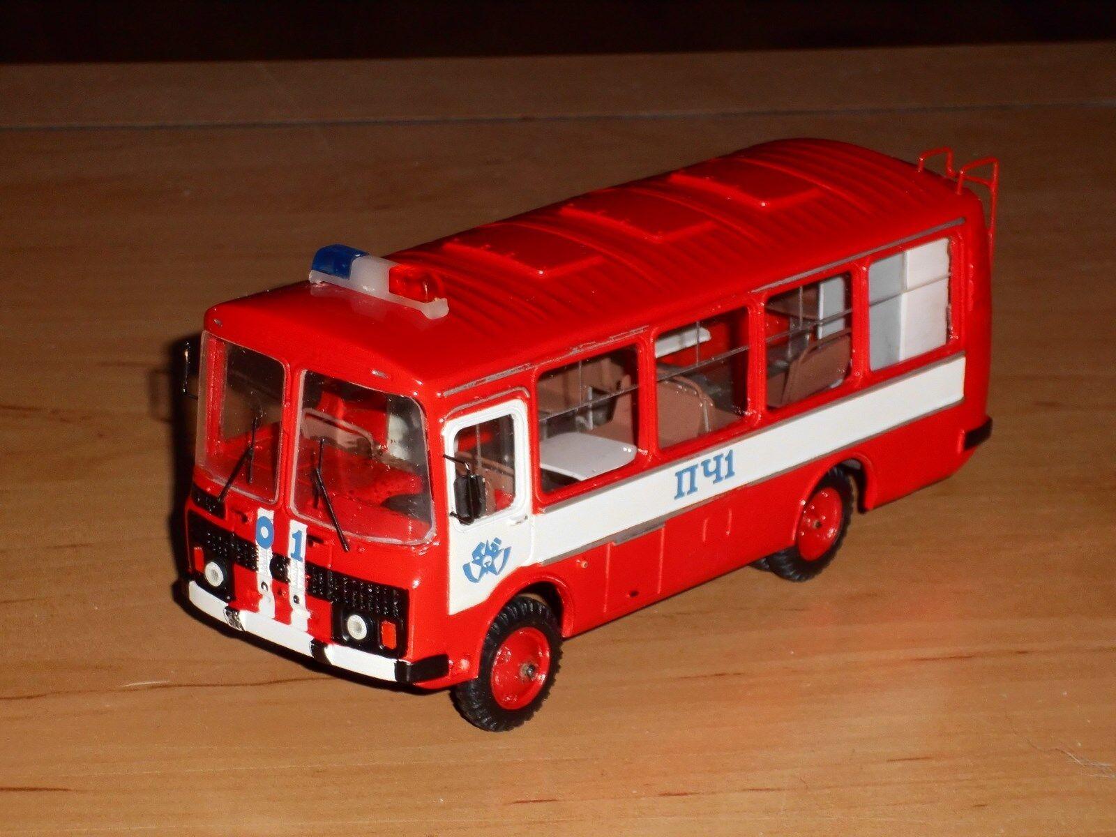 Bus paz-3206 pompiers, finoko, russe à la main modèle 1,43