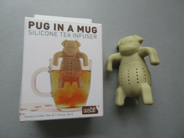 Paladone Noki Pug in a Mug Cup Silicone Loose Tea Infuser Novelty Dog New in Box