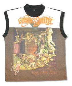 Aerosmith-Toys-Cut-N-Sew-Girls-Juniors-Black-Tank-Top-Shirt-New-Official