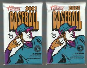 2021 topps heritage baseball UNOPENED FACTORY SEALED PACK (2 PACK LOT) FREE SHIP