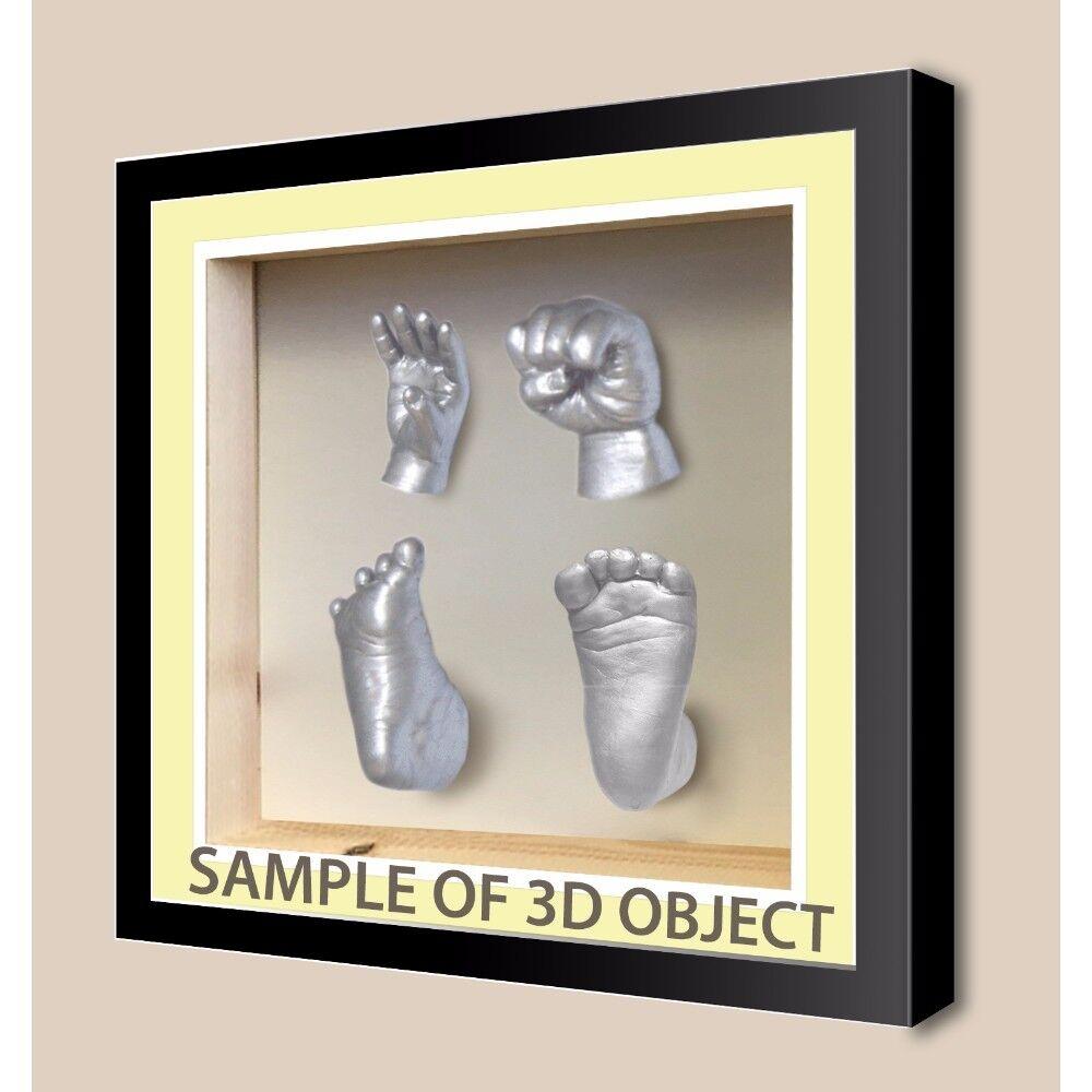 3D Boîte Carrée cadres pour bébé Cast Cast Cast ombre profonde, Vitrine médaille-Ivoire Mount 20f086