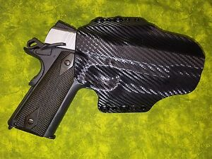 Holster Black Carbon Kydex Fits Sr1911 425 Ruger Commander Owb Ebay