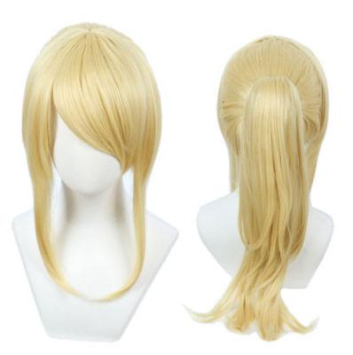 Pour Cosplay Samus Aran perruque jeu METROID Cosplay Costume Blonde Anime Eli Ayase