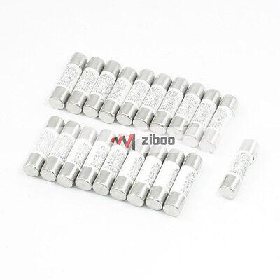 Fusible de cerámica 20Pcs 2 A 500 V 10x38mm RT14 nuevo R015 para RT18
