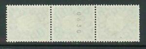 BRD-Mi-Nr-303-Rollenmarke-mit-Zaehlnummer-3er-Streifen-postfrisch