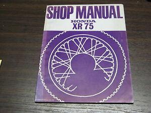 Manuel Revue Technique D Atelier Honda Xr 75 1972 -> Shop Manual Xr75 6rlx1rfm-07214836-820381616
