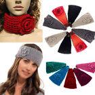 Fashion Crochet Headband Knit hairband Flower Winter Women Ear Warmer Headwrap