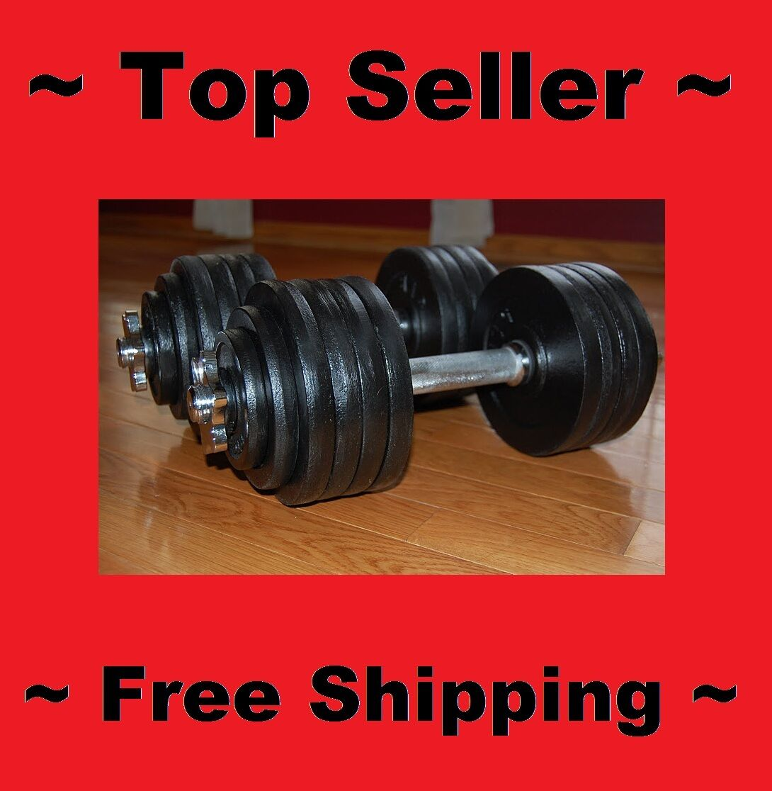 IRON weißht ADJUSTABLE DUMBBELL SET 200 LBS BODY WORKOUT FITNESS ACCESSORIEN