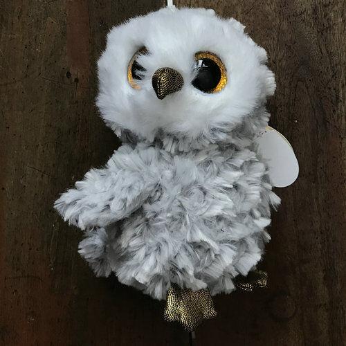 """TY Owl Owlette Grey Stuffed doll 6/"""" in hand"""