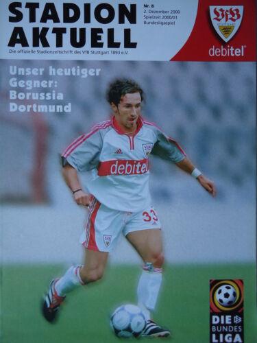Programm 2000//01 VfB Stuttgart Borussia Dortmund