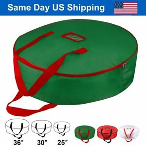 "Christmas Xmas Wreath Storage Bag with Handles for 25"" 30"" 36"" Wreath Clean up"