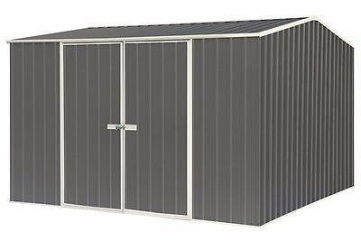 Garden Shed 3mW x 3mD Double Door Absco Green or Beige or Grey
