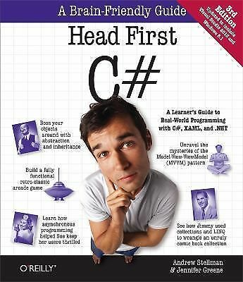 Head First C# by Jennifer Greene and Andrew Stellman (2013, Paperback)