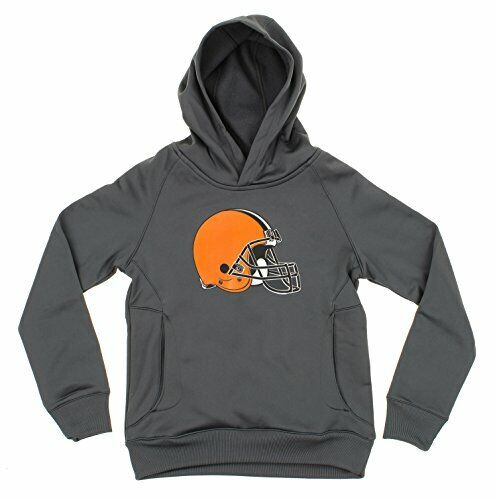 OuterStuff NFL Youth boys Cleveland Browns Logo Pullover Sweatshirt Hoodie