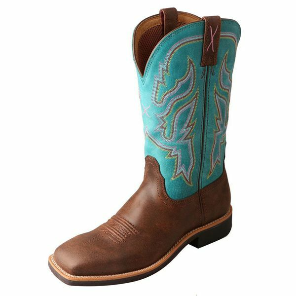 WTH0008 Twisted X Wouomo Turquoise Top Hand Cowgirl avvio Square Toe  NEW