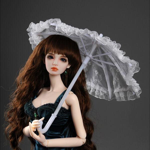 Dollmore BJD Houses & Furniture Model & SD - KD Lace Parasol (White)