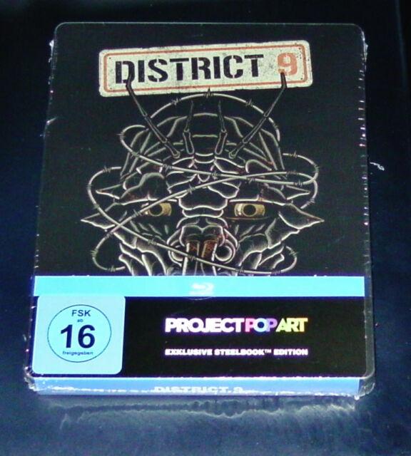 District 9 POP ART exkluisve STEELBOOK EDICIÓN BLU-RAY NUEVO Y EMB. orig.