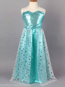 OP-Girls-Costume-Fancy-Dress-Up-006-Frozen-Disney-Elsa-Queen-Sz-3-4-5-6-7-8