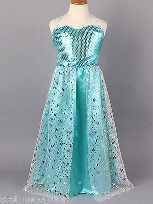 Girls Costume Fancy Dress Up (006) Frozen Disney Elsa Queen Sz 3 4 5 6 7 8