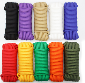 Wholesale 2-10mm 50Meter Parachute Cord Lanyard Rope Nylon  Survival Outdoor  new listing