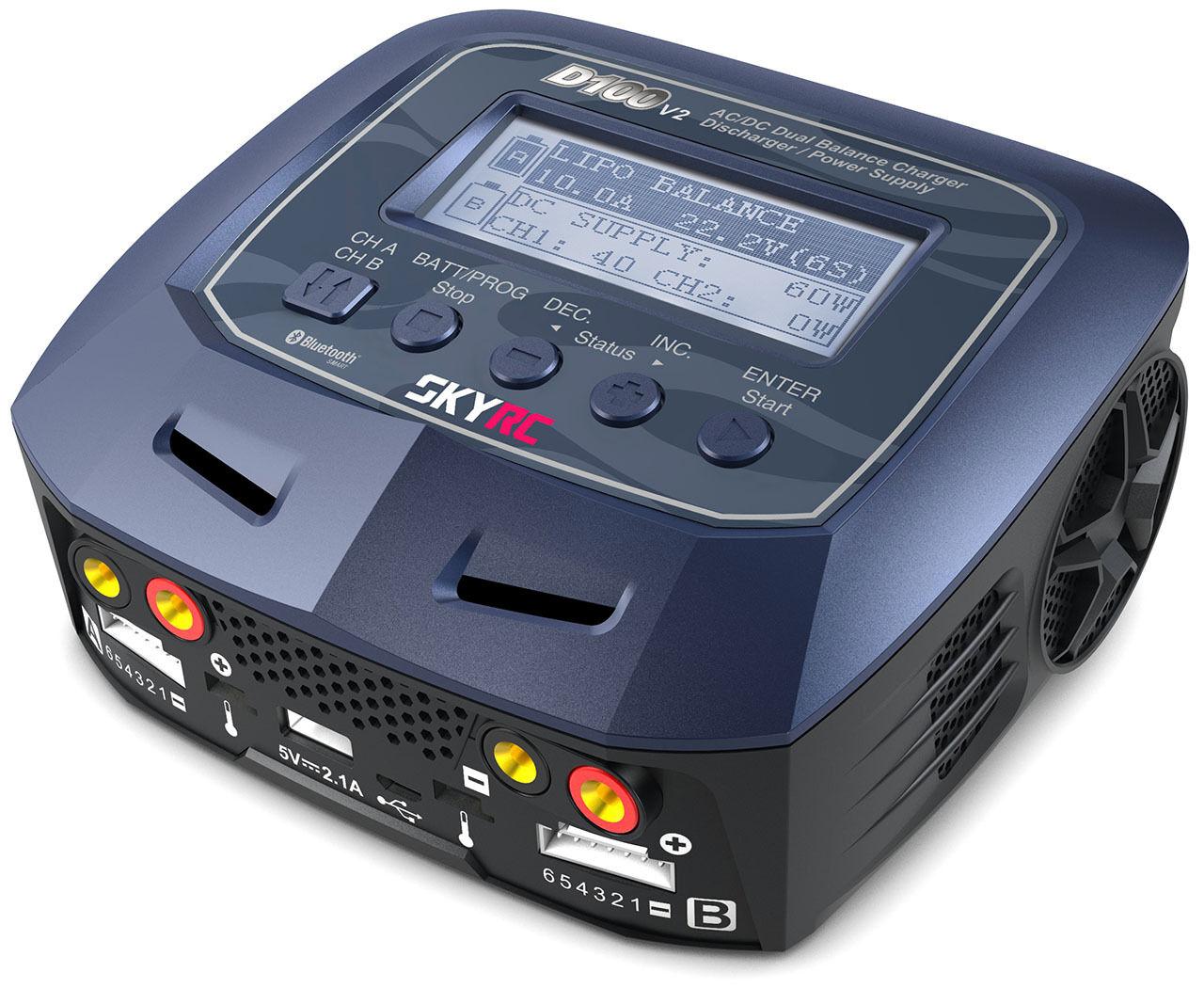 autoICABATTERIE Professionale cieloRC autoger D100 V2 AC  DC DUO LiPo 1-6s 100W  promozioni