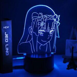 Anime Zero Two Noya Hinata 3D LED Lamp Nightlight 16 Color With Remote