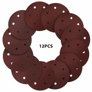 """5"""" Film Sanding Discs 5 Holes Hook/&Loop 50 Pcs Ideal for Car Repair Grit P320"""