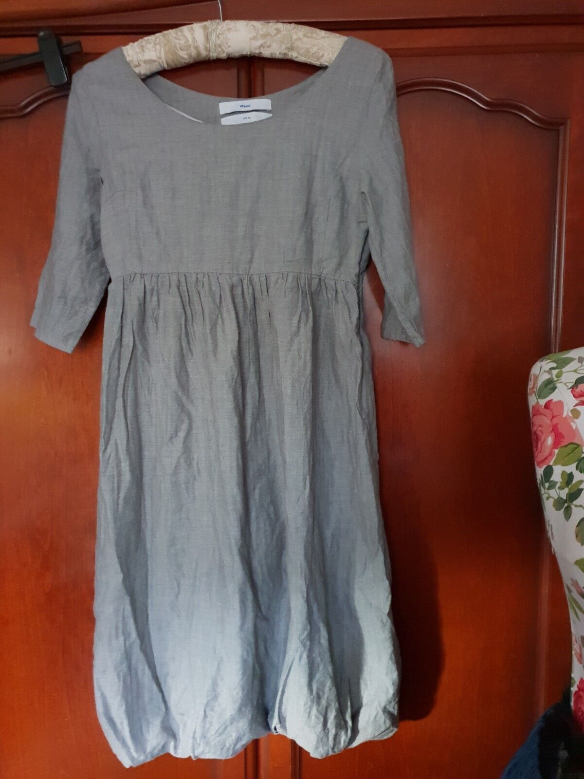 Women Grey Pure Cotton Designer Dress by WHYRED sise 38 10 12