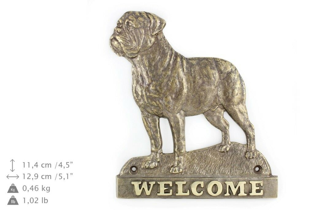 Bullmastiff - brass tablet with image of a dog, Art Dog