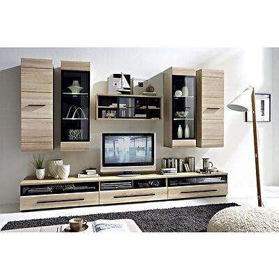 MODERN Living Room Furniture Set - LED wall units TV cabinets Sonoma Oak FEVER 1