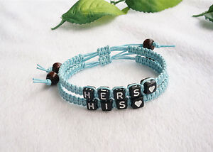 7c40b5b34a822 Details about His and Hers Couples Bracelets Set, His Hers,heart  Bracelets,Valentine,annivers