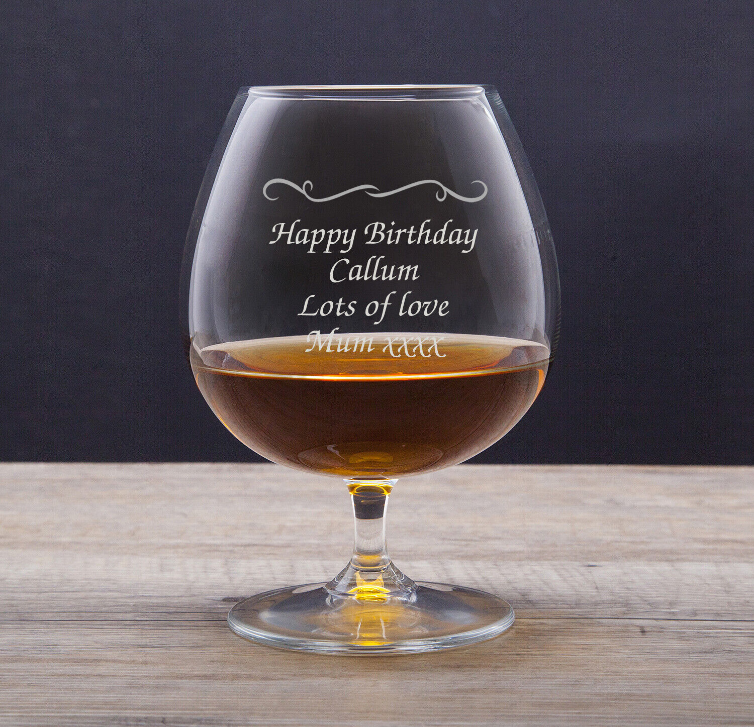 Details about Personalised Engraved Brandy Cognac Glass Gifts Ideas For Him Her Womens Mens