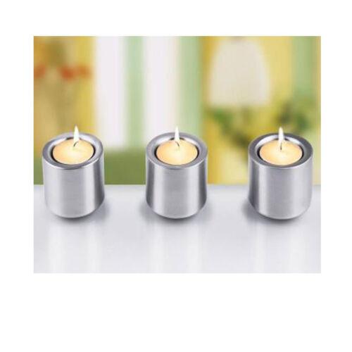 Teelichthalter Kerzenhalter 3er Set  Edelstahl