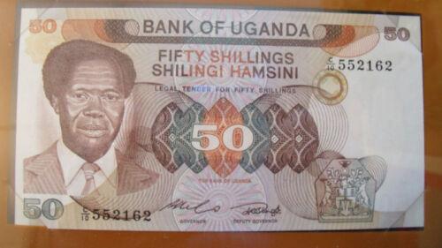 Banknotes of All Nations Uganda 1985 P20 50 shillings UNC Prefix C//10
