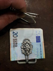 1 fermasoldi artigianale leone  PIN MONEY CLIP PORTASOLDI money clip crafted