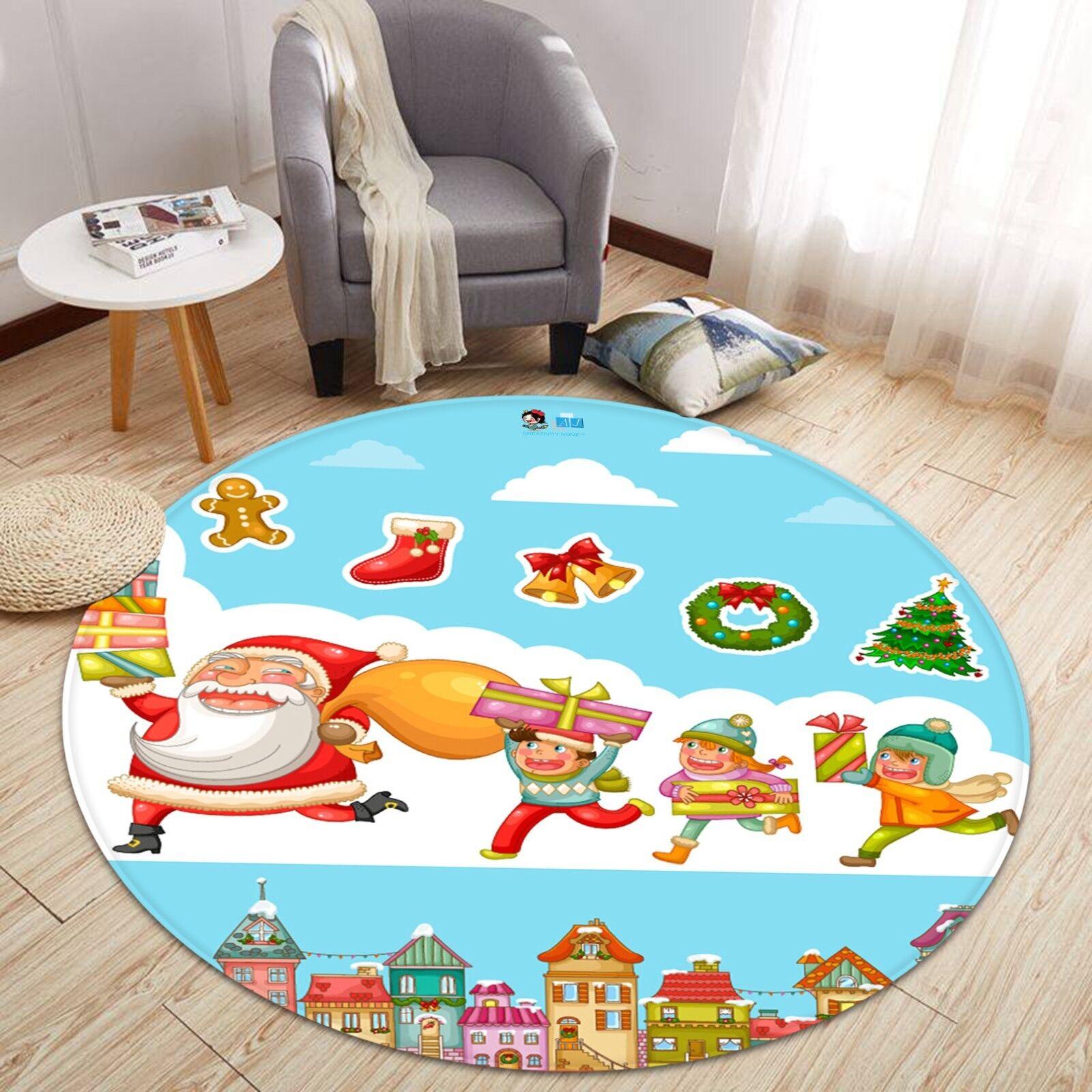 3D Natale Xmas 626 Antiscivolo Tappeto Tappetino stuoia di qualità rossoondo Elegante Tappeto foto Regno Unito
