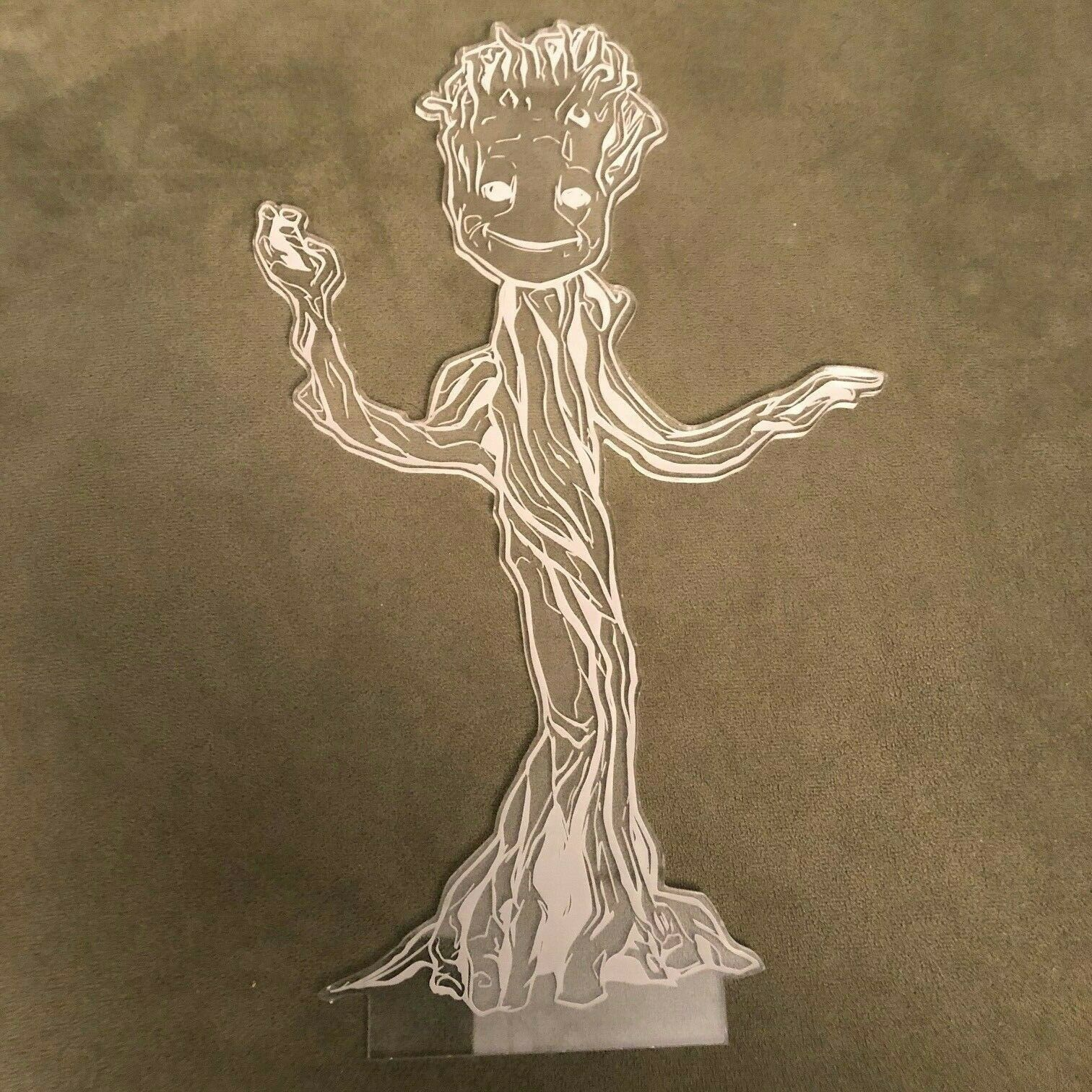 Marvel Guardians of the Galaxy  Groot Acrylic Laser Etched Cut Out