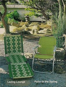 BOOK ONLY #7516 Furniture Fan-Fare I- Macrame Folding Patio Lounge Chair Pattern