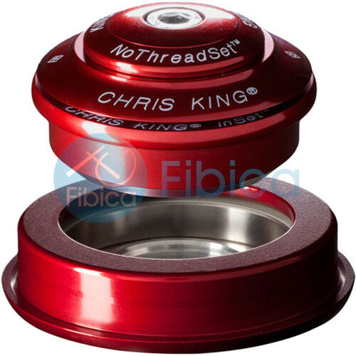 NEW CHRIS KING INSET 2 Threadless Headset Tapered 1 1 8 -1.5 44-56mm Red