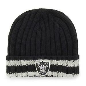 8c16571e Details about NWT OTS OAKLAND RAIDERS RIBBED CUFFED KNIT BEANIE HAT CAP NFL  OSFA