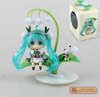 "Anime VOCALOID Miku Snow Bell Ver. Nendoroid 493# 4"" Action Figure Gift Toy NIB"