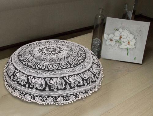 "32/"" Indian Mandala Floor Cushion Pillow Cover Bohemian Hippie Round Ottoman Pouf"
