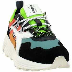 Diadora-Rave-Leather-Pop-Sneakers-Casual-Black-Mens