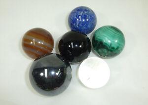 Posten-Kugeln-Halbedelsteine-Malachit-Onyx-Aragonit-Lapislazuli