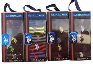 U.S. Polo Assn. Men's 5-Pair Dress Socks Sz. 10-13 NIB