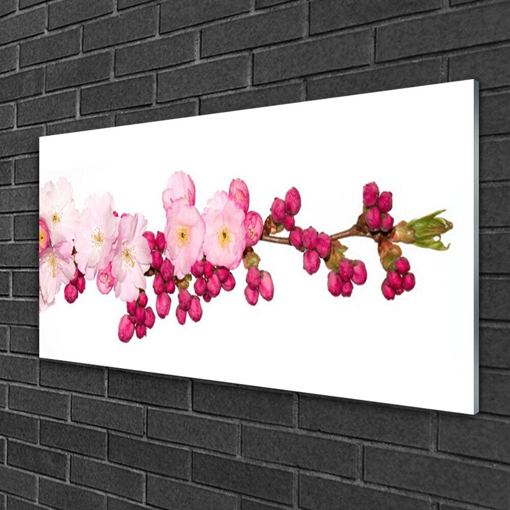 Tableau sur Plexiglas® Image Impression 100x50 Floral Fleurs Branche