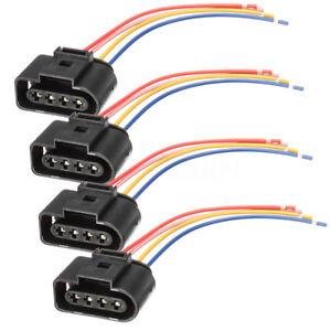 Conjunto-de-4-paquete-de-enchufe-conector-de-la-bobina-de-encendido-Telar-de-Cableado-para-Audi-VW