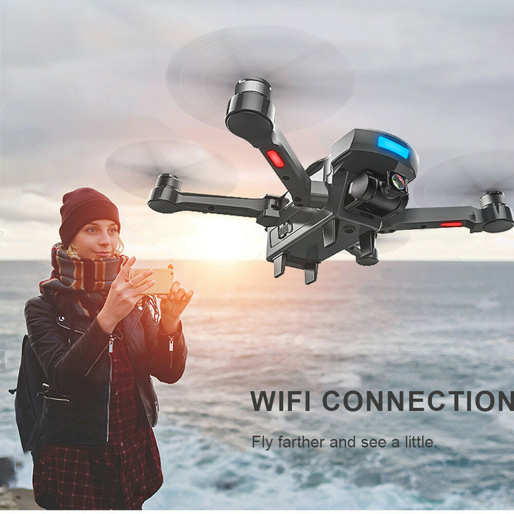 GPS Fold Brushless Drone 2.4G FPV 1080P Real Time WiFi Camera Helicopter